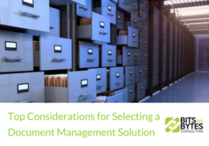 Top Considerations for Selecting a Document Management Solution | BBDS